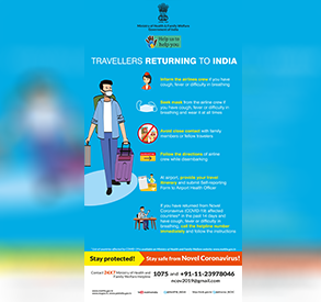 Posters for Indians traveling from abroad - English