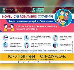 Posters for Safety measures against COVID-19 - English