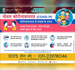 Posters for Safety measures against COVID-19 - Hindi